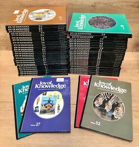 Joy of Knowledge Encyclopaedia 52 Books Complete Full Set 1980s Vintage