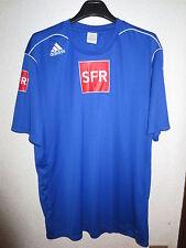 Maillot ADIDAS porté échauffement COUPE de FRANCE bleu XL shirt
