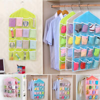 16Pockets Hanging Bag Over Door Box Shoe Rack Hanger Tidy Storage Organizer