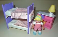 FISHER PRICE LOVING FAMILY 1994 DREAM DOLL HOUSE GIRL BUNK BED DOLLHOUSE SET LOT