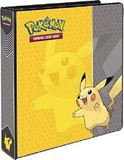 Pokemon Binder Pikachu 3 Ring Card Album 2 Fast Vintage W Page