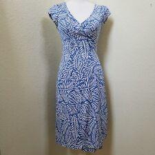 """Diane Von Furstenberg Women's Blue """"Kye"""" Wrap Dress Size 0"""