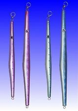 TEN 6.5oz Butterfly Type 'Spear' Jigs & 20 Assist Hooks - Pink / Silver
