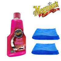 Meguiar's Soft Wash Gel Super thick sudsing Car Wash 473ml & 2 Microfibre Towels
