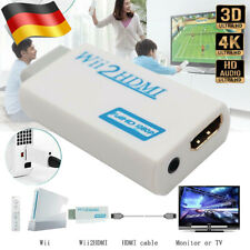 Nintendo Wii HDMI Adapter Konverter Stick 1080p Full HD TV Audio 3,5mm AV Kabel