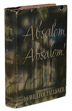 Absalom, Absalom! ~ WILLIAM FAULKNER ~ First Edition 1st Printing 1936 Salter DJ