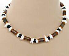 18 inch (46cm) Puka Shell Bamboo Coconut Beads Necklace SUP SURFER HAWAIIAN BoHo