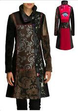 Womens Desigual Abrig Natalia Tapestry CINABRIO Coat/jacket Eu36 Au8