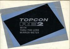 Topcon RE2 35mm SLR Camera Instruction Manual - English Edition
