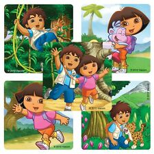 """25 Dora and Diego Stickers, Assorted, 2.5"""" x 2.5"""" each, Party Favors"""