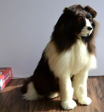 Rabbit Fur Realistic Collie Lifelike Large Dog Home Garden Deterrent Decoration