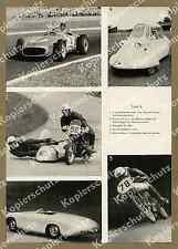 Mercedes W 196 Fangio Motorrad Beiwagen BMW Wiggerl Kraus Huser Nürburgring 1956