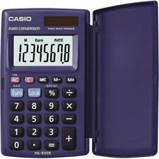 Casio HS8VER Pocket Calculator 8 DIGIT Display Plastic Cover Solar & Battery