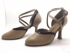 Chaussure de danse de salon pour femme:diamant couleur: beige et noir
