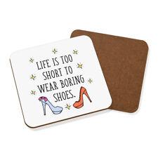 la vie est trop courte à vêtement perçage Chaussures Dessous De Verre