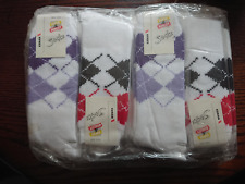 *** BRAND NEW MENS KENAN ARGYLE PRINT THERMAL COTTON SOCKS x 12 - ONE SIZE ***