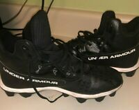 Under Armour Black High Top Football Cleats Size 9.5