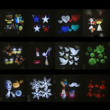 12 Types Christmas Film Pattern for LED  Moving Laser Projector Landscape Stage