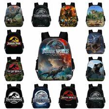 "UK 16""Jurassic World Movie Dinosaur Park Backpack School Book Bag Kids Rucksack"