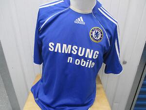VINTAGE ADIDAS CHELSEA F.C. SEWN XL BLUE HOME JERSEY 2006-2008 KIT ENGLISH PREMI