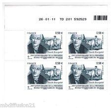 2011 - BLOC DE 4 COIN DATE - ECOLE VETERINAIRE - LYON-BOURGELAT -TIMBRE Yt.4553