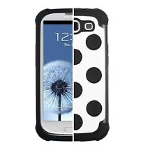 SAMSUNG GALAXY S3 i9300 DUAL LAYER HARD COVER+SILICONE TD HYBRID CASE WHITE