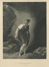 New listing ANTIQUE SHAKESPEARE CYMBELINE IMOGEN WELSH MOUNTAINS CAVE MILFORDS HAVEN PRINT