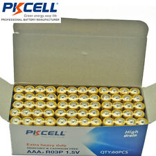 60X Wholesale 1.5V R03P AAA Carbon-Zinc Battery Single Use RoHS PKCELL CA Seller