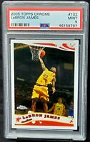 2005 Topps Chrome Lakers LEBRON JAMES Basketball Card PSA 9 MINT - Low Pop 214