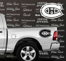x2 Montreal Canadiens Truck Car decal Vinyl Stickers hockey team fan banner logo