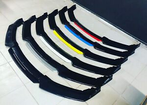4PCS Universal Carbon Fiber Look Front Bumper Lip Chin Body Kit For All Cars.