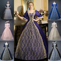 Lady Medieval Renaissance Baroque Dress Victorian Masquerade Costume Retro Chic