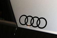 Original Audi Dekorfolie Audi Ringe Brillantschwarz 81B064317 Y9B 2 Stück