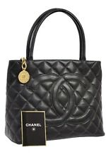 CHANEL BLACK CLASSIC MEDALION QUILTED BAG CC SHOES MOTHERS DAY GIFT