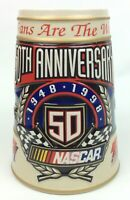 Budweiser/NASCAR 50th Anniversary Beer Stein 1948 1998 #CS371 Brazil Man Cave