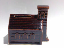 Vintage Ceramic Clapboard Church Coin Bank (A)