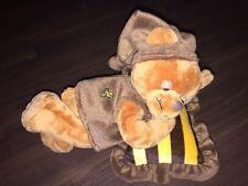 Morgenroth Teddybär Stofftier Plüschtier Kuscheltier Honigbär Braun Gelb Kissen