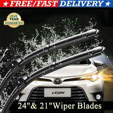 24 Amp 21 Inch One Pair Windshield Wiper Blades Bracketless J Hook Oem Quality