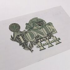 One Of One Real Currency Art Collage, Small, 5 X 3 Inches, Signed By Artist
