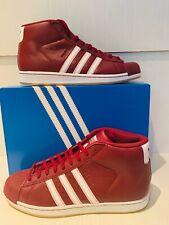 New Adidas Originals Pro Model Shoes Burgundy White Gum Sz 10.5 BY4172