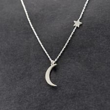 Silver Wiccan Wish Crescent Moon Star Dream Necklace Sleep Princess New