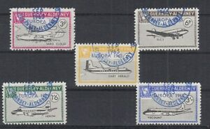Cendrillon Guernesey Alderney Europe 1965 Aéronefs - 5 Valeurs Oo