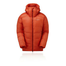 Montane Mens Alpine 850 Down Jacket Top Orange Sports Outdoors Full Zip Hooded