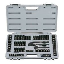 Black Chrome Socket Set 69 Piece Ratchets Sockets Case Mechanics Hand Tools Grip