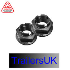 2 x GENUINE BPW 41mm Socket One Shot Trailer Brake Drum Hub Nut 52mm Flange