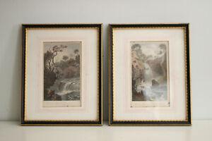 A Pair of c19th Engravings: Melincourt & Aberdillis, Vale of neath, Gastineau