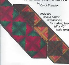 Log Cabin Table Runners paper pieced quilt pattern by A Very Special Collection