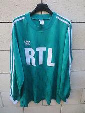 VINTAGE Maillot COUPE de FRANCE porté n°4 vert RTL années 90 Trefoil shirt XL