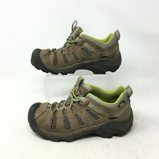 Keen Voyageur Trail Hiking Shoes Mid Top Lace Up Mesh Leather Brown Womens 7.5 W