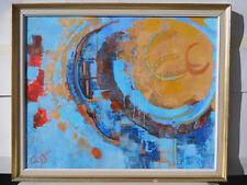 Luce CAGGINI 20ème siècle ABSTRAIT Tableau Peinture Huile MODERNE ABSTRACTION